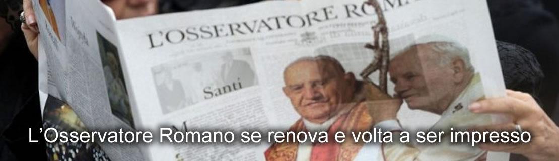 L'Osservatore Romano se renova e volta a ser impresso