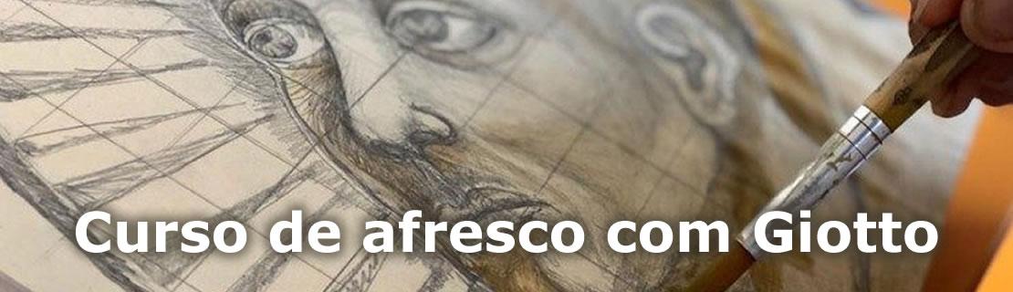 Curso de afresco com Giotto