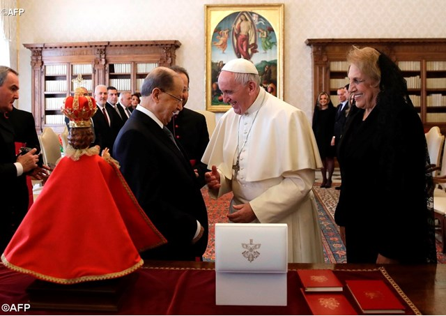 Papa recebe Presidente libanês