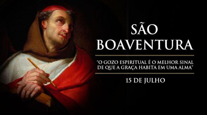 """Hoje é a festa de São Boaventura, o """"Doutor Seráfico"""""""