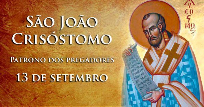 """Hoje é celebrado São João Crisóstomo, o """"boca de ouro"""""""