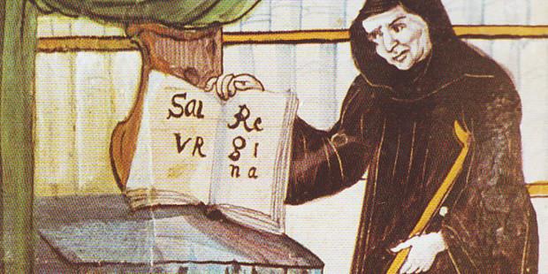 O monge cego e paralítico que compôs uma das orações mais conhecidas da Igreja