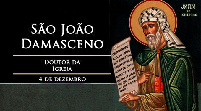 Igreja celebra hoje São João Damasceno, defensor da veneração de imagens